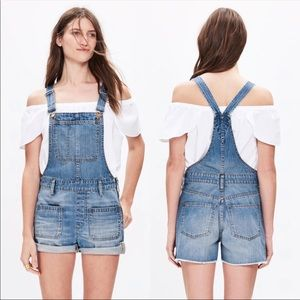 Short Overalls With Patch Pocket